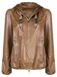 Brunello Cucinelli zipped-up jacket - Brown