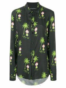 Garçons Infidèles hula girl print shirt - Black