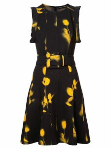 Proenza Schouler Rose Imprint Belted Dress - Yellow