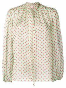 Giamba heart print blouse - Green