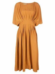 Co pleated waist dress - Orange