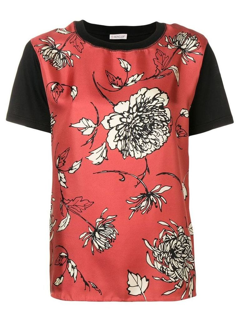 Moncler floral print T-shirt - Pink