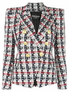 Balmain tweed double breasted blazer - Black