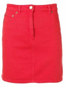 Alberta Ferretti mini denim skirt - Red