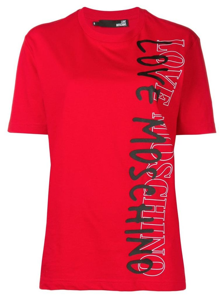 Love Moschino contrast logo T-shirt - Red