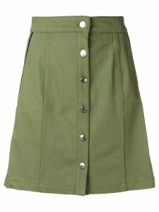 Être Cécile a-line button skirt - Green