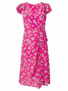 P.A.R.O.S.H. floral print midi dress - Pink