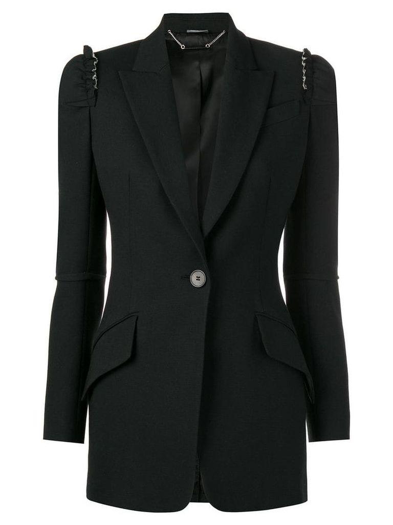 Alexander McQueen ruffle detail blazer - Black