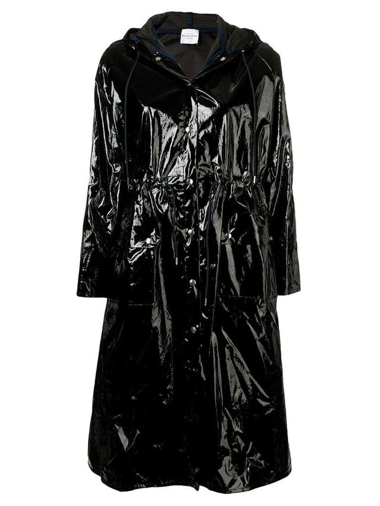 Roseanna varnished effect coat - Black