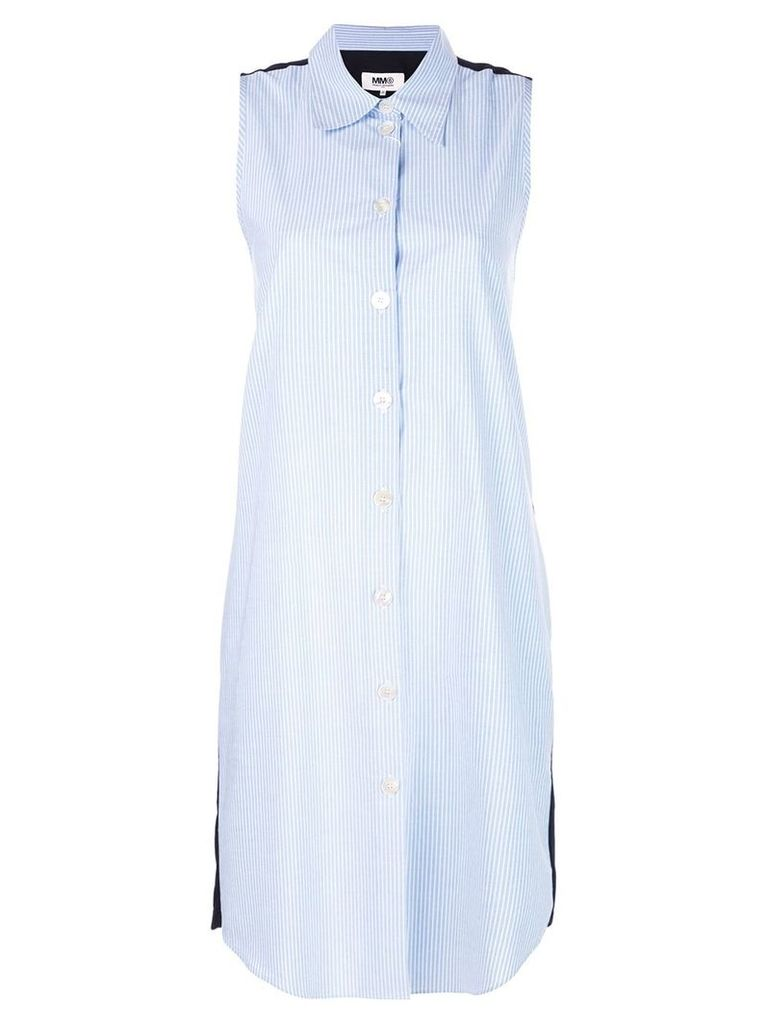 Mm6 Maison Margiela sleeveless shirt dress - Blue