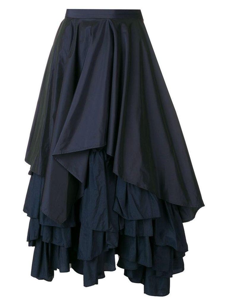 Enföld layered ruffle skirt - Blue