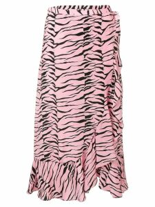 Rixo Gracie wrap skirt - Pink