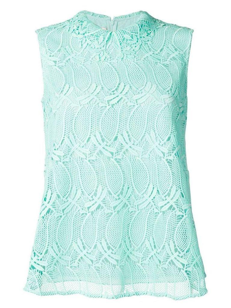 Giamba sleeveless lace blouse - Green
