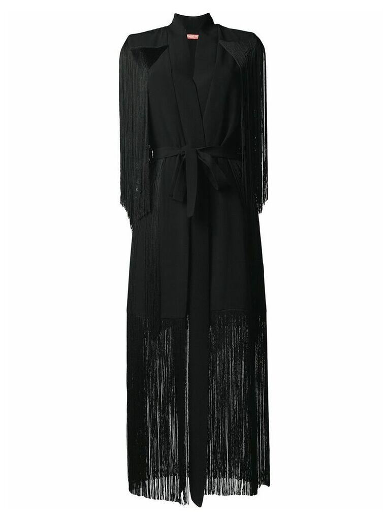 Smarteez fringe coat - Black