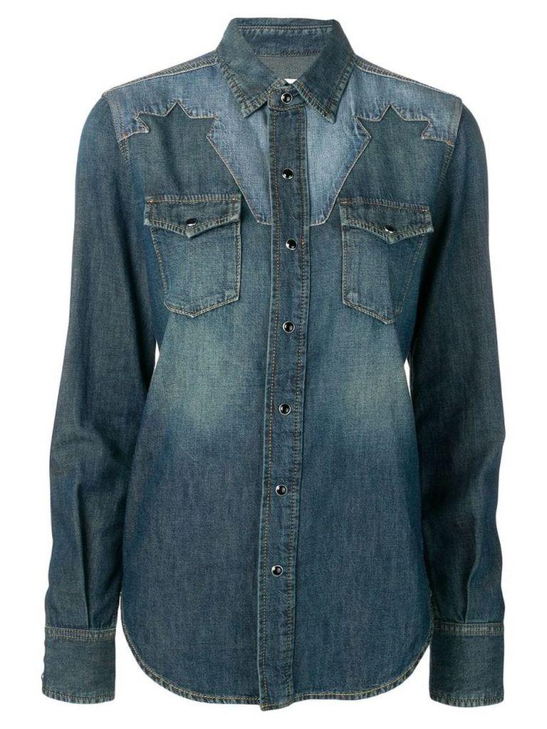 Saint Laurent western-style denim shirt - Blue