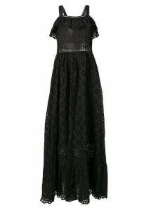 Twin-Set embroidered maxi dress - Black