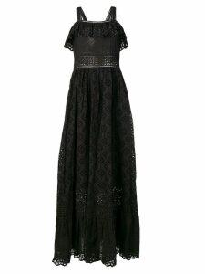 Twin-Set embroidered maxi dress - Black