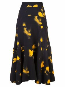 Proenza Schouler Rose Imprint Skirt - Yellow