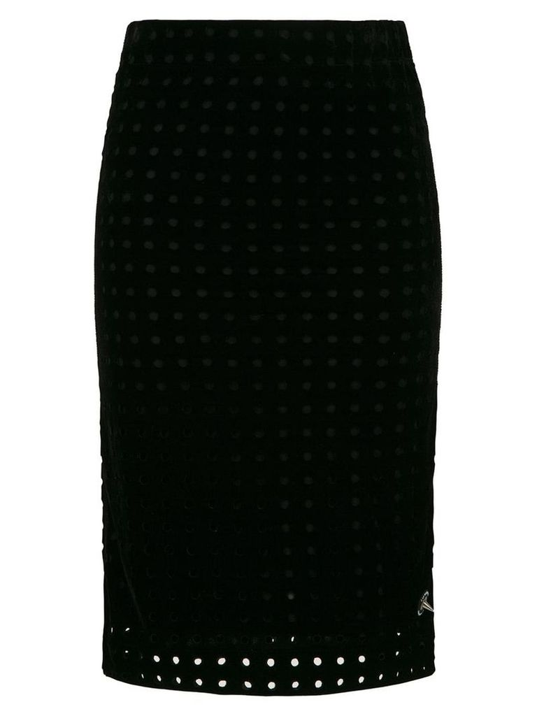 À La Garçonne midi pencil skirt - Black