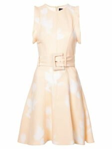Proenza Schouler Rose Imprint Belted Dress - White