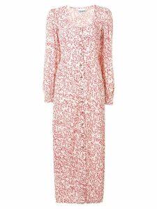 Ganni floral print maxi dress - Neutrals