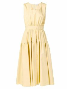 Aspesi midi flared dress - Yellow
