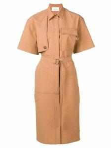 Cédric Charlier belted dress - Brown