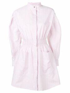 Cédric Charlier striped shirt dress - Pink
