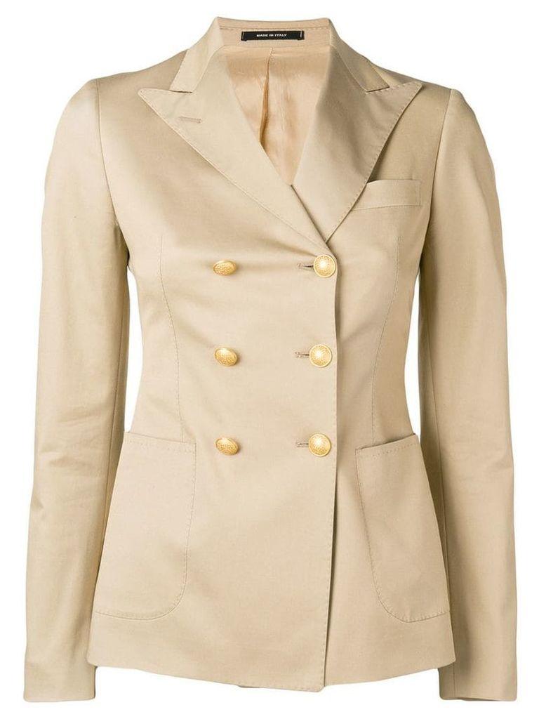 Tagliatore fitted blazer - Neutrals