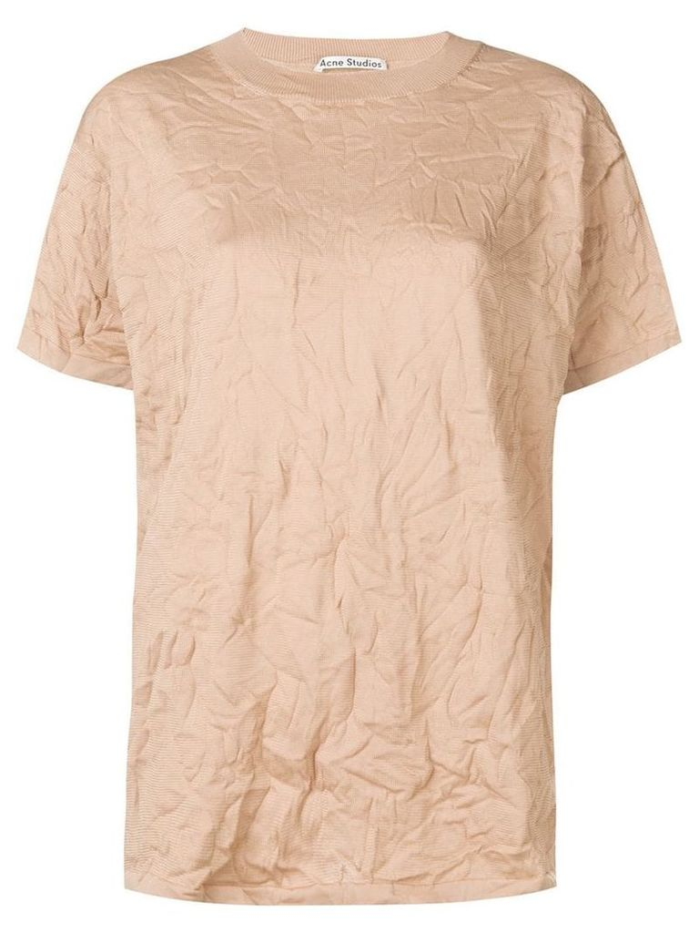 Acne Studios wrinkle texture T-shirt - Brown