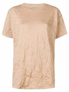Acne Studios wrinkle texture T-shirt - Brown