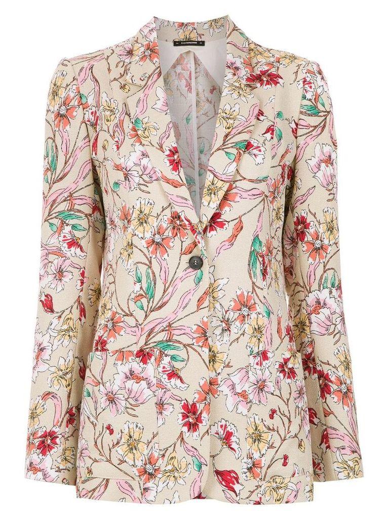 À La Garçonne printed blazer - Multicolour