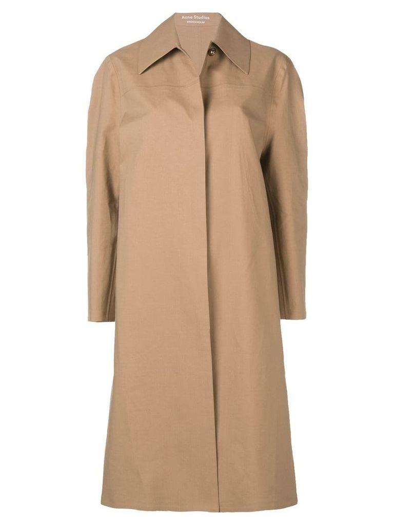 Acne Studios minimalist coat - Brown