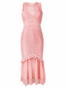 Three Floor Sheer Reveal fitted dress - Pink