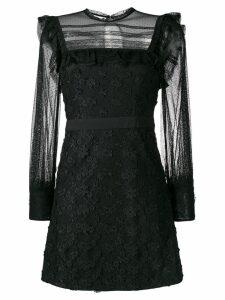 Three Floor Twiggy embroidered mini dress - Black
