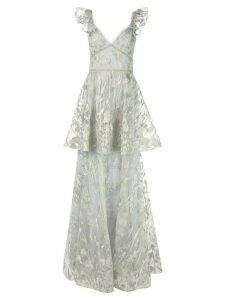 Marchesa Notte floral sleeveless dress - NEUTRALS
