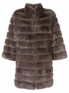Arma mid-length fur coat - Grey