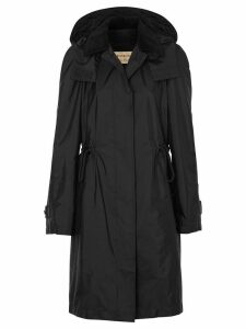 Burberry Detachable Hood Taffeta Parka - Black