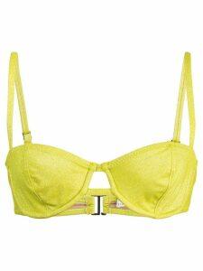 Fleur Du Mal unlined balconette top - Yellow