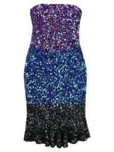 Retrofete sequinned midi dress - Purple