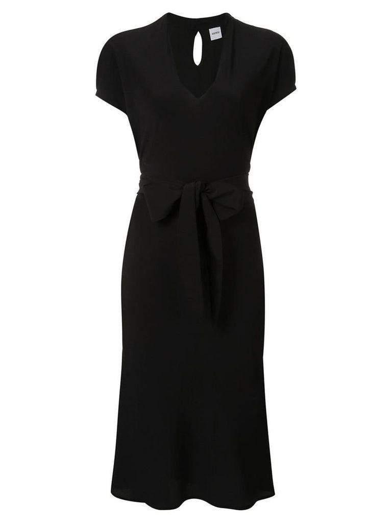 Aspesi belted midi dress - Black