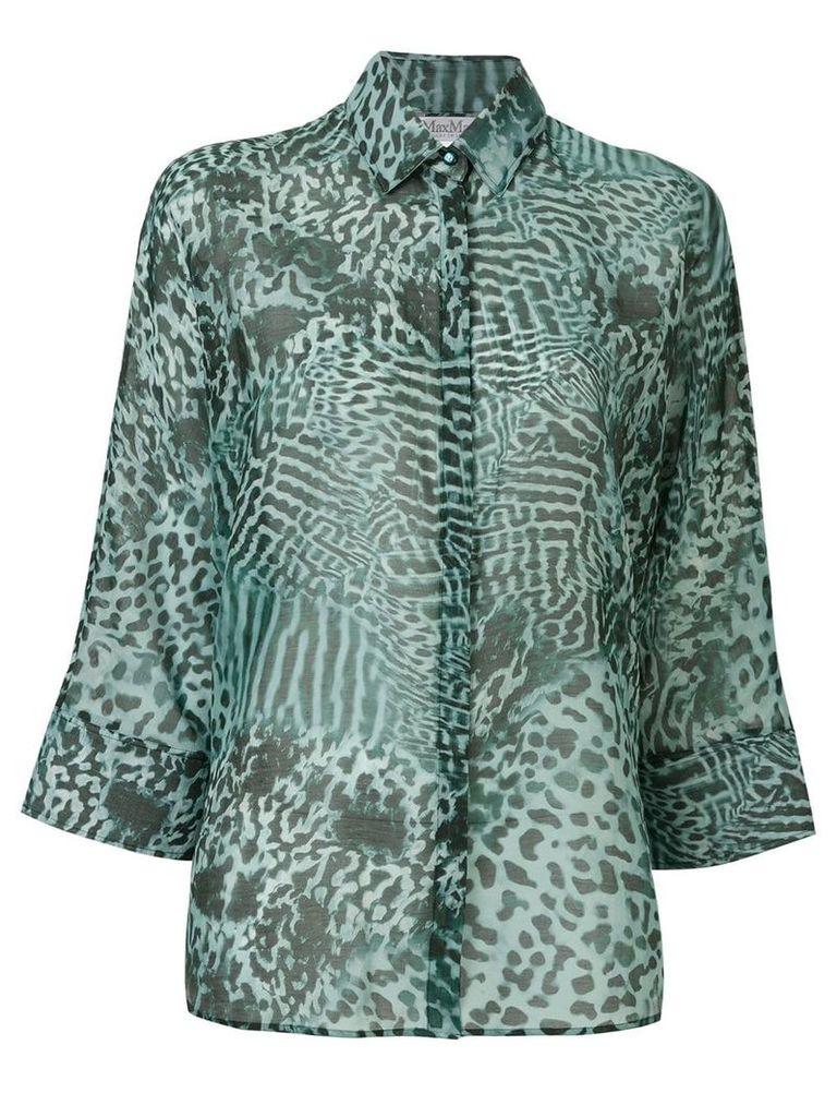 Max Mara leopard print shirt - Green