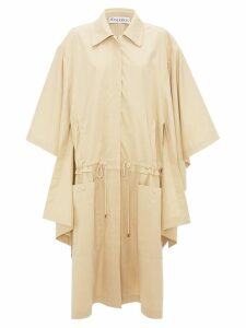 JW Anderson FLAX CAPE TRENCH COAT - Neutrals
