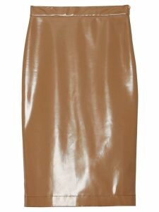 Burberry Vinyl Pencil Skirt - NEUTRALS