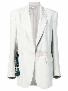 Natasha Zinko oversized blazer with belt bag - Grey