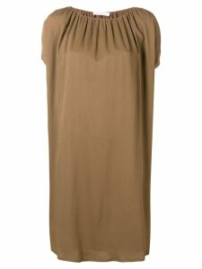 Fabiana Filippi shortsleeved dress - Brown