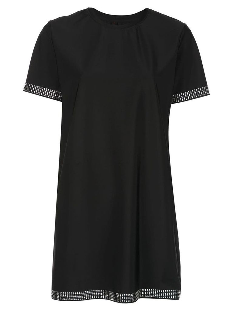 Adam Selman Sport studded T-shirt dress - Black