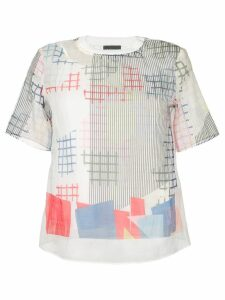 Emporio Armani sheer graphic print T-shirt - White
