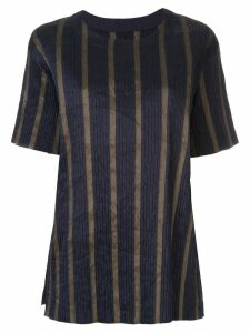 Uma Wang striped short-sleeve top - Blue