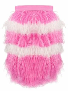 MSGM two tone feathered skirt - PINK